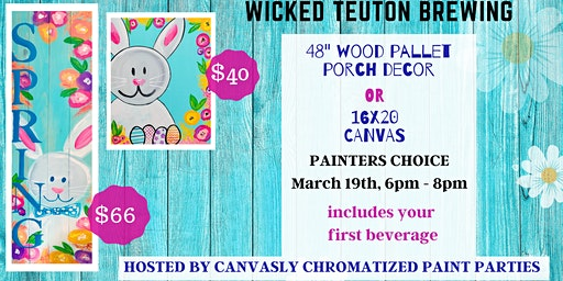 Spring Pallet Porch Sign or Canvas @ Wicked Teuton