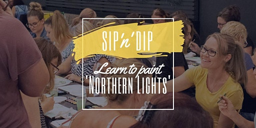 Arizona Redbank - Sip 'n' learn to paint 'Northern Lights'!
