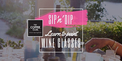 Orion Springfield - Sip 'n' learn to paint Cherry Blossom wine glasses!