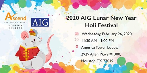 2020 AIG Lunar New Year/Holi Festival