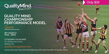 Quality Mind: Championship Performance Model tickets