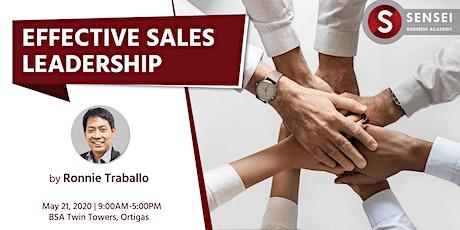 Effective Sales Leadership tickets