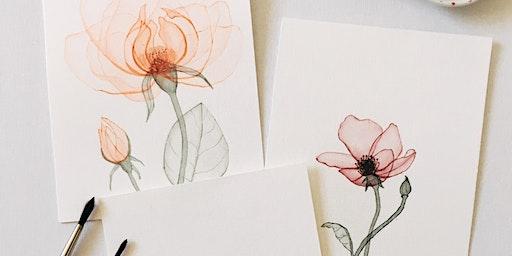 Transparent Flower Watercolour  Workshop