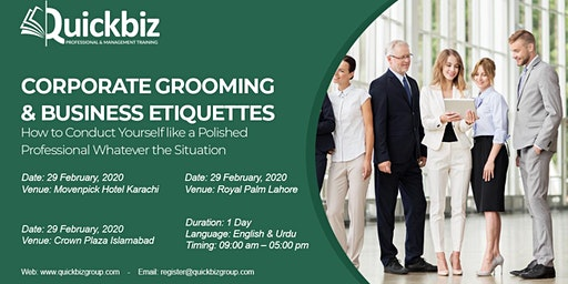 Corporate Grooming & Business Etiquettes