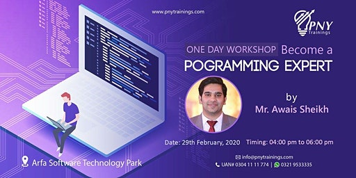 One Day Workshop Become a Programming Expert by Mr. Awais Sheikh