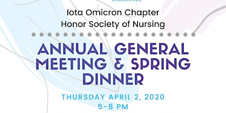 Iota Omicron Chapter's Annual General Meeting & Spring Dinner tickets
