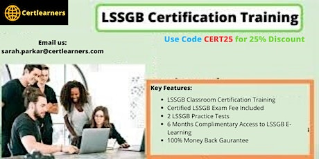LSSGB 4 Days Classroom Certification Training in Bath,England,UK tickets