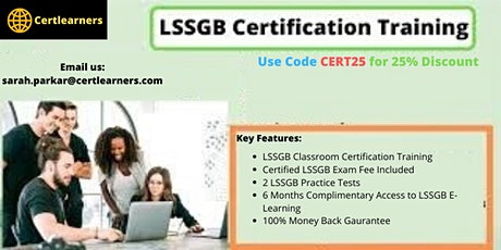LSSGB 4 Days Classroom Certification Training in Durham,England,UK tickets