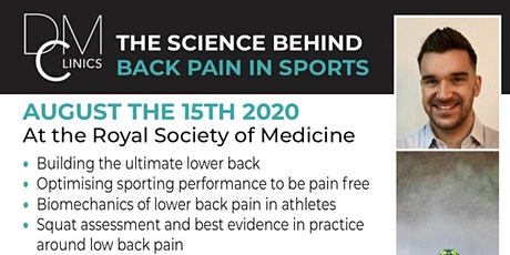 The Science Behind Lower Back Pain in Sport  tickets