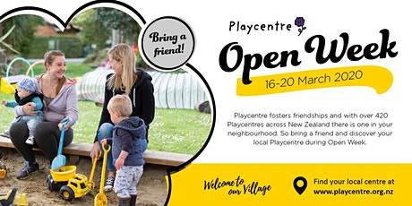 Kelburn Playcentre Open Week tickets
