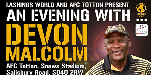 An Evening With Devon Malcolm