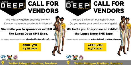 THE DEEP SMEs Expo 2020 CALL FOR VENDORS tickets