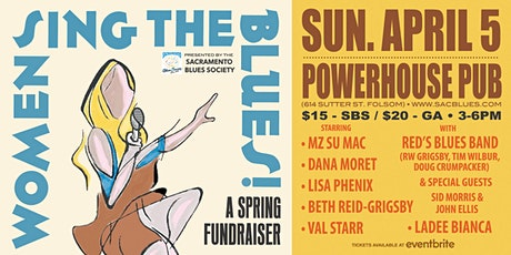 """Women Sing the Blues"" Fundraiser-Sacramento Blues Society- POSTPONED tickets"