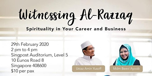 Witnessing Al-Razzaq: Spirituality in your Career and Business