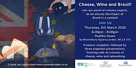Brexit, Cheese and Wine tickets