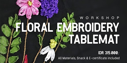 Floral Embroidery Tablemat