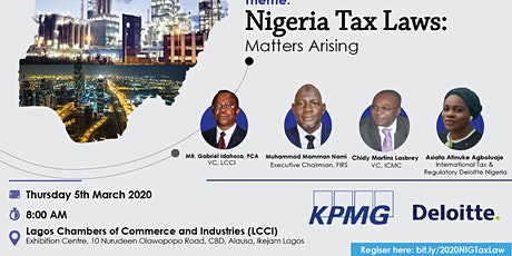 The Nigerian TAX Laws (Matters Arising) Annual  Symposium. (Mar 5, 2020) tickets