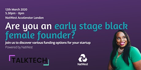 Talk Tech Association Present: Funding Options for early stage startups tickets