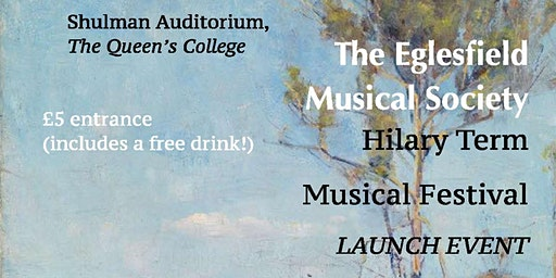 The Eglesfield Musical Society Music Festival LAUNCH EVENT