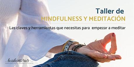 TALLER MINDFULNESS Y MEDITACIÓN entradas