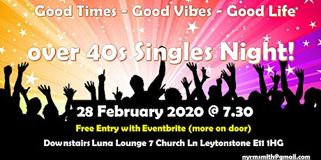 Over 40s Soul Singles Night tickets