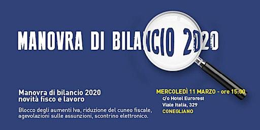 MANOVRA DI BILANCIO 2020 - novità fisco e lavoro