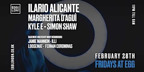 Fridays at EGG: Ilario Alicante, Margherita D'agui & Kyle E tickets
