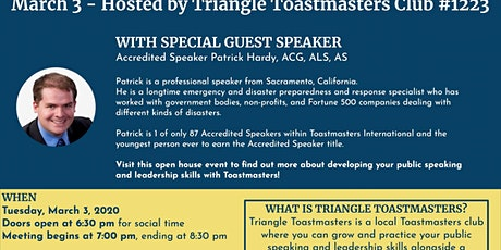 Leadership Open House with Guest Speaker - Toastmasters tickets