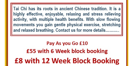 Tai Chi Classes Ballynahinch tickets
