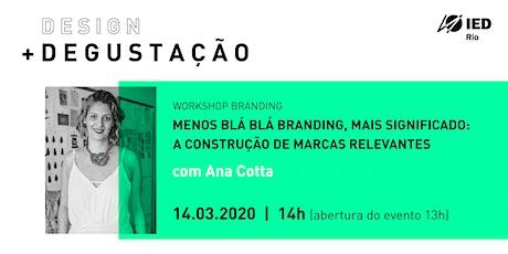IED Rio Design Degustação_ Branding ingressos