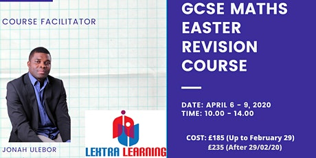 EASTER GCSE MATHS REVISION COURSE tickets
