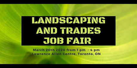 Multi-Employer Job Fair  - Landscaping and Trades tickets