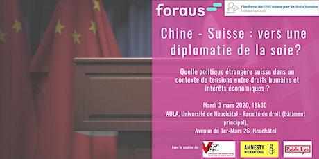 Chine-Suisse : vers une diplomatie de la soie ?  Quelle politique étrangère billets