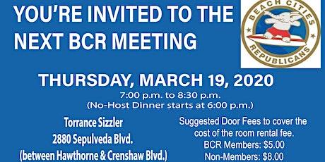 Beach Cities Republican Meeting - 3/19/20 tickets