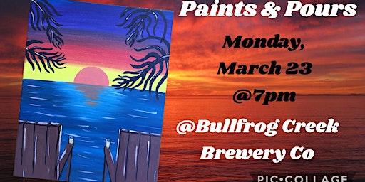 Paints & Pours:Florida Sunset