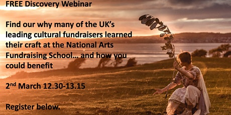 National Arts Fundraising School Discovery Webinar 2.3.20, 12:30pm tickets