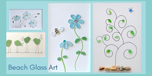 Beach Glass Collage with all supplies and Frame Craft Night Workshop