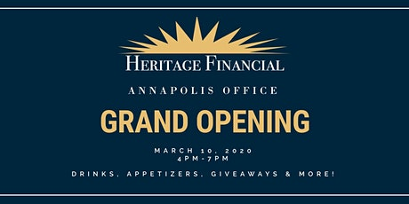 Annapolis Office Grand Opening - Heritage Financial tickets