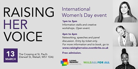 Raising Her Voice - International Women's Day Event (Networking/Panel) tickets