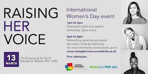 Raising Her Voice - International Women's Day Event (Networking/Panel)