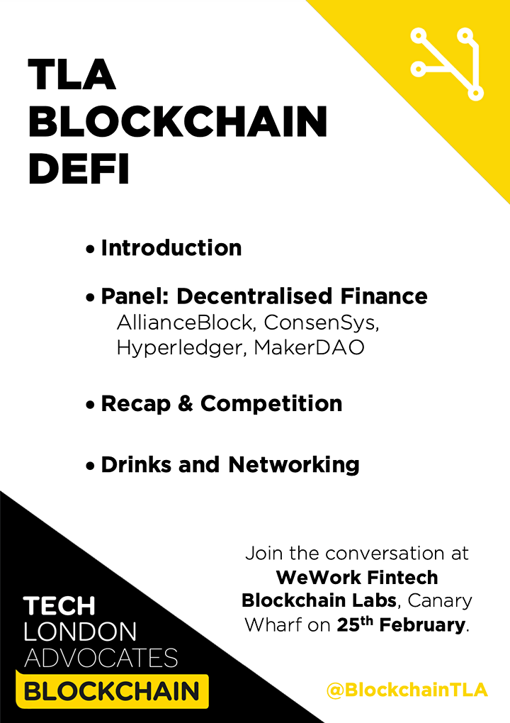 Tech London Advocates Blockchain - Decentralised Finance (DeFi) image