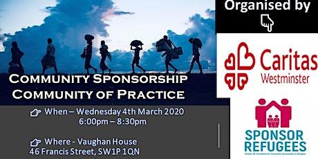 Community Sponsorship Community of Practice tickets