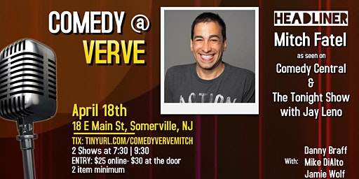 Comedy at Verve with Mitch Fatel!
