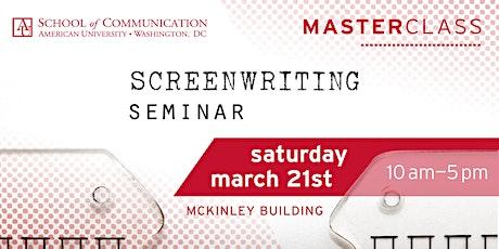 Screenwriting Master Class tickets