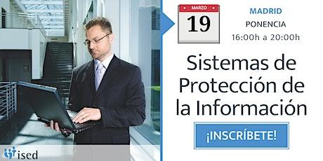Ponencia: Sistemas de protección de la información 19-MAR entradas