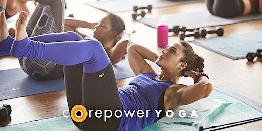 CorePower Yoga Class at True Food Kitchen Newport Beach