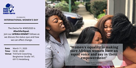 Women in Tech Africa Germany Chapter celebrates International Women's Day Tickets