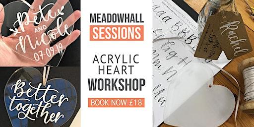 Acrylic Heart Workshop - Meadowhall Wedding Fair