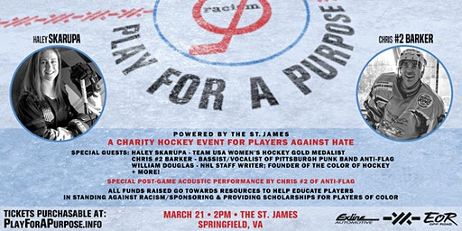 Play for a Purpose - Powered by The St. James: A Charity Hockey Event