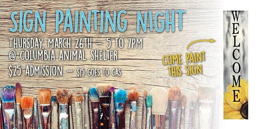 Sign Painting Night at Columbia Animal Shelter